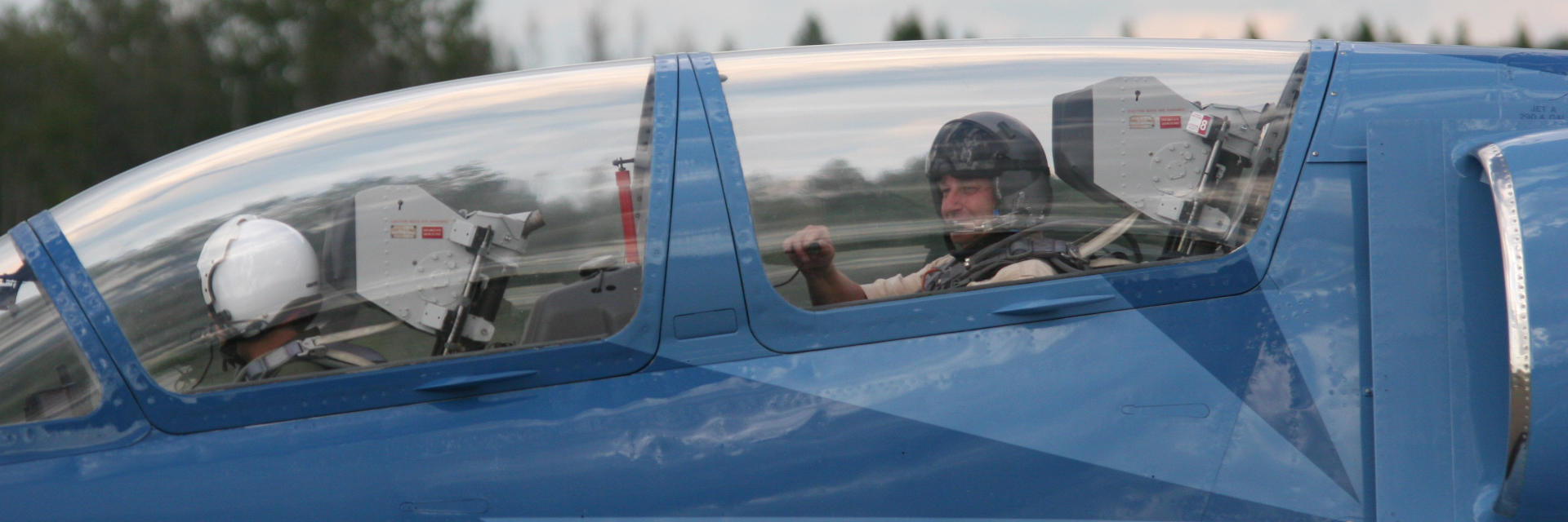 Jet Fighters International Instructor with Trainee-Pilot Before Take Off